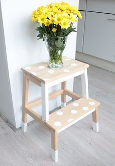 Ikea step stool - embellished