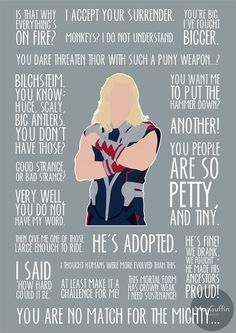 Thor poster by MacGuffin Designs / britishindie http://www.etsy.com/uk/listing/200566456/thor-poster-made-to-order http://society6.com/britishindie/thor-uai_print