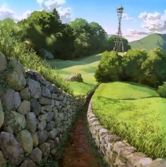 Landscapes from films of Studios Ghibli