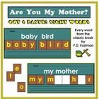 This title gives you a cut and paste worksheet for 100 high frequency sight words: every word from the book Are You My Mother? Are You My Mother, Cut And Paste Worksheets, Sight Words, Sim, Spelling, You And I, Literacy, The Book, Kindergarten