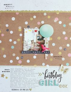 My magical world - Birthday Girl Layout