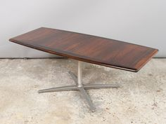 Vintage Rosewood Coffee Table with a Four Pronged Base
