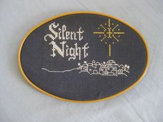 Cross Stitched Silent Night Picture. $15.00, via Etsy.