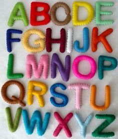 felt alphabet set $40