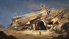 Abandoned ruins, Mad Chan on ArtStation at…