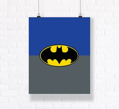 Batman Symbol Customizable Comic Book Illustration High