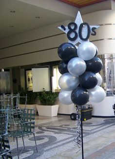 Foam/Balloon 80s Party Decorations