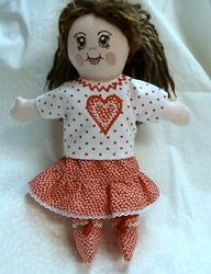 Doll Heart Outfit - 5x7 | In the Hoop | Machine Embroidery Designs | SWAKembroidery.com Oma's Place