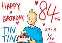 happy 84th birthday Tintin by ~Gorillaz520 on deviantART • Tintin gateaux • riawati