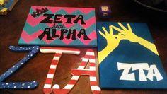 Weekend crafts #ZTA #greek #zeta