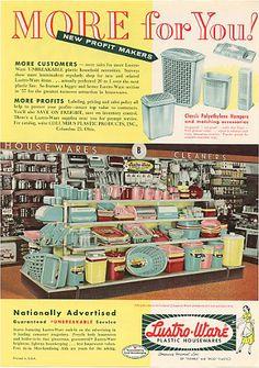 Lustro ware* 1950s AD : Buzz* ver.
