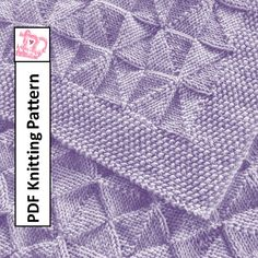 Baby Blanket Knitting Pattern, PDF Knitting Pattern - Windmills and Pinwheels reversible Baby Blanket/throw/afghan 26 x 36 Easy Knit Baby Blanket, Free Baby Blanket Patterns, Knitted Baby Blankets, Baby Knitting Patterns, Baby Patterns, Knitting Stiches, How To Start Knitting, Knitting For Beginners, Free Baby Stuff