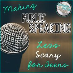 Blog Post - Tips and Freebies to take the fear out of public speaking in secondary English classes!
