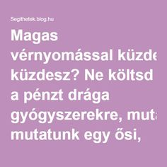 Magas vérnyomással küzdesz? Ne költsd a pénzt drága gyógyszerekre, mutatunk egy ősi, bevált receptet! - Segithetek.blog.hu Health Advice, Natural Health, Anti Aging, Food And Drink, Health Fitness, Healthy, Blog, Blood Pressure, Turmeric