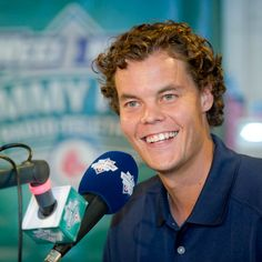 #Boston Bruins goalie Tuukka Rask makes an appearance at the 12th annual WEEI/NESN @Matty Chuah Jimmy Fund  Radio-Telethon. #KCANCER #Radiotelethon Photo credit: Metrodesign
