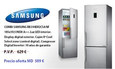 SAMSUNG Combi RB31HER2CSA http://www.materialdirecto.es/es/frigorificos-combinados/70265-samsung-combi-rb31her2csa.html