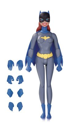 DC Collectibles Batman The Animated Series Batgirl (Gray Suit Version) Action Figure. Based on Batman: the animated series. Appears in her original Gray suit. Comes with extra pairs of hands. Measures approximately tall. Batgirl, Batwoman, Superman And Lois Lane, Batman And Superman, Batman Stuff, Superman The Animated Series, Dc Comics Action Figures, Batman Gifts, Blue Beetle