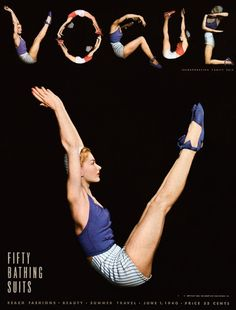 Vogue, 1940. Photo: Horst P. Horst. Model: Lisa Fonssagrives.