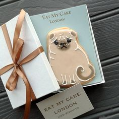 pug biscuit by eat my cake london | notonthehighstreet.com