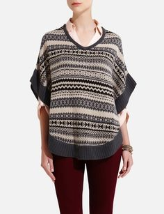 Fair Isle Knit Poncho from THELIMITED.com