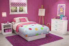 Girl Bedroom Ideas With Pink Color, girls bedroom decor, girl bedroom sets ~ Home Design Twin Bedroom Sets, Box Bedroom, Girls Bedroom Furniture, White Furniture, Kids Furniture, Bedroom Ideas, Cheap Furniture, Bedroom Girls, Bedroom Themes