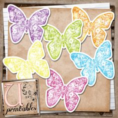 U printables by RebeccaB: FREE Print/Print and Cut - Butterflies - Silhouette Studio File included in download