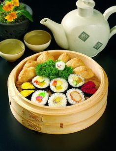 I love sushi..usually vegetarian sushi, but I will try any.