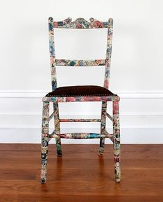 Frumpy Chairs Get a Tribal Fabric Makeover | ModHomeEc