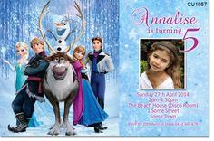 CU1057 - Girls Frozen Photo Birthday Invitation