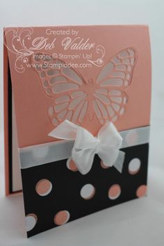 hidy ho and HAPPY NEW YEAR stampers, Today's card is pretty cool. I saw a card online that used a framlit for the cardbase. We don't have anything like that so.....I adapted it to our Butterfly T...