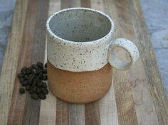 rustic handmade mug, tea mug, stoneware coffee cup, rustic pottery, stoneware cups, kitchen and home, minimalist pottery by earthformsbymarie on Etsy
