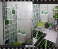 Box em parede de tijolos de vidro banheiro lavabo for Piso acrilico transparente