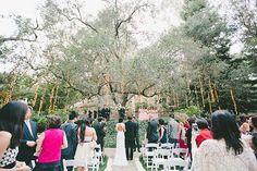 Whimsical California Wedding, Bride Walking Down the Aisle   Brides.com