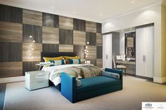 LINLEY Interior Design has produced design options for the interiors of a series of penthouses and apartments at Knightsbridge Private Park. #Interior #Design #Modern #Home #Decorating #Decor #Bedroom