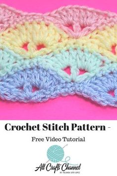 Learn to crochet this stitch pattern perfect for baby blankets. The crochet desi… Learn to crochet this stitch pattern perfect for baby blankets. The crochet design is lightweight and great for warmer weather. Crochet Stitches Patterns, Crochet Designs, Stitch Patterns, Baby Afghan Patterns, Crochet Crafts, Crochet Projects, Crochet Tutorials, Crochet Ideas, Crochet Baby Blanket Beginner