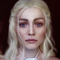 Bilderesultat for khaleesi makeup