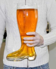 This beer glass is shaped like a boot and holds a whooping 2 liters. Excellent novelty value and good excuse to get a bit more into the glass. Beer Boot, Gag Gifts For Men, Mens Gear, Seasonal Image, My Cup Of Tea, Wine And Beer, Perfect Party, Drinks, Cocktails