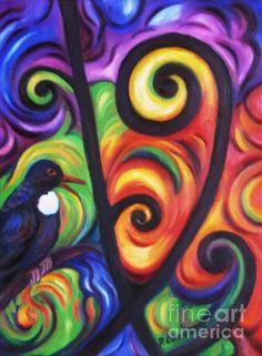 Tui And Koru Painting - Tui And Koru Fine Art Print