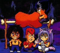 Yu Yu Hakusho chibis, yepp... never mess with Team Urameshi!!