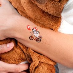 Pug On Bike temporary tattoo. May or may not have just bought a set.