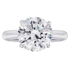 1stdibs.com | 4 Carat Round Diamond Engagement Ring #EngagementRings #Classic