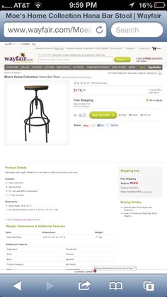 They are thinking of industrial looking stool since we have so much wood in the kitchen
