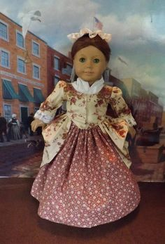 New from Holly at newyorkdolldesigns on eBay: Tea Rose Ballgown made for American Girl Felicity and Elizabeth #doll clothes