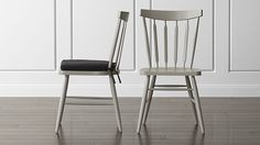 Willa Dove Wood Dining Chair and Cushion