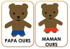 Les trois ours-exploitation maternelle