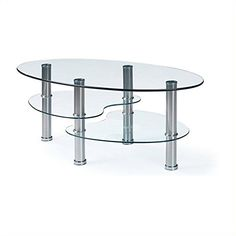 Global Furniture Clear Stainless Steel Occasional Coffee Table ** Find out more about the great product at the image link. (This is an Amazon Affiliate link and I receive a commission for the sales)