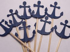 Hey, I found this really awesome Etsy listing at http://www.etsy.com/listing/157919403/24-navy-blue-anchor-cupcake-toppers-food