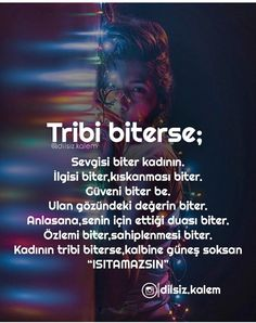Tribi değil de ne bileyim... muhabbeti biterse... Meaningful Words, Beautiful Words, Relationship Quotes, Cool Words, Karma, Letting Go, Favorite Quotes, Quotations, Affirmations