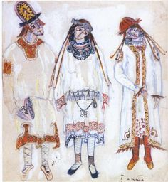 #Roerich designs for #Stravinsky's Rite of Spring choreographed by #Nijinsky for #Diaghilev's Ballets Russes #ballet.