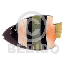 Philippine Brooches - Philippines inlaid brooches, ladies womens jewelry accessories. Inlaid Fish Black Tab/orange Luhuanus Shell/ Hammershell Brooch Jewelry Accessories, Women Jewelry, Brooches, Philippines, Sunglasses Case, Shells, Fish, Orange, Lady